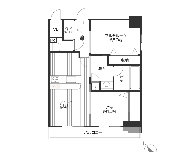 [INVESTMENT PROPERTY] 1DK+S apartment room currently rented
